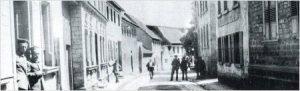 (2. Haus rechts. Aufnahme von 1917)